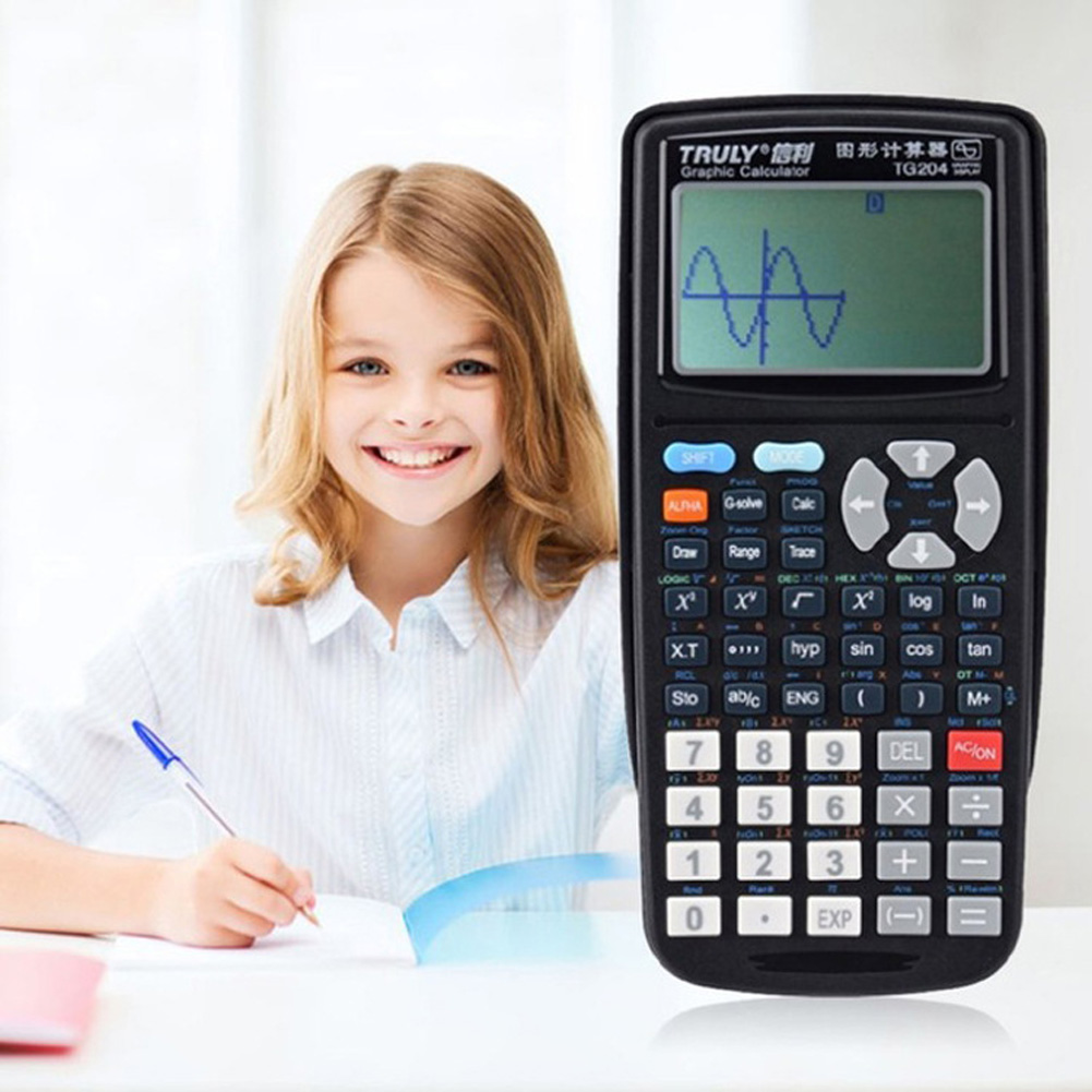 TG204 Portable Scientific Calculator SAT Examination Drawing Stationery School Office   black
