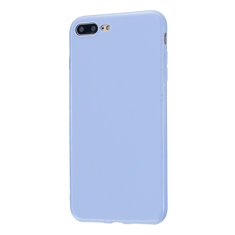 For iPhone 5/5S/SE/6/6S/6 Plus/6S Plus/7/8/7 Plus/8 Plus Cellphone Cover Soft TPU Bumper Protector Phone Shell Taro purple