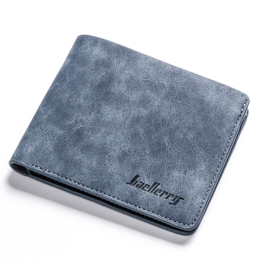Men Retro Frosted PU Wallet