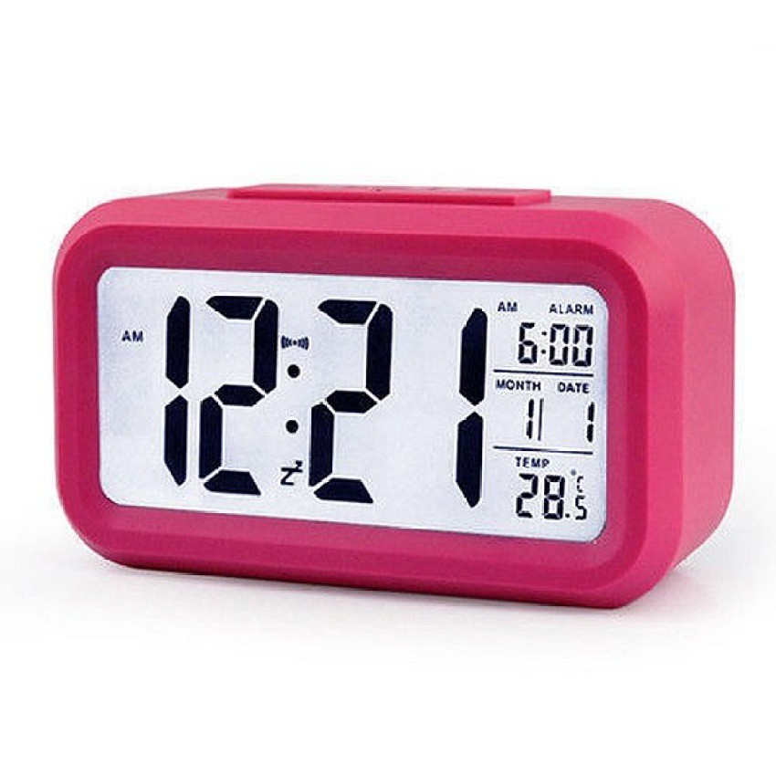 Snooze Temperature Display Alarm Clock Mute Backlight Electronic Creative Digital Clock Gift Red