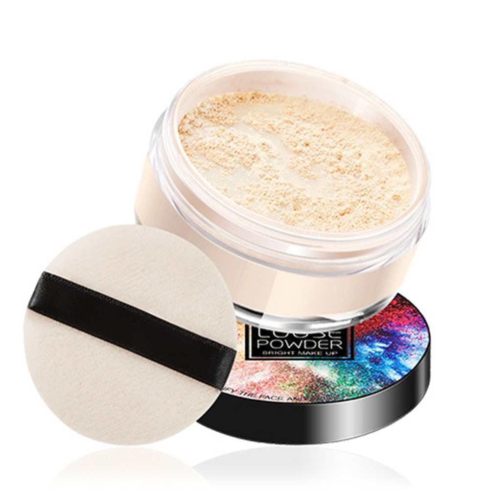 Loose Powder Concealer Brighten Light Oil Control Non Comedogenic Makeup Setting Powder  Natural White
