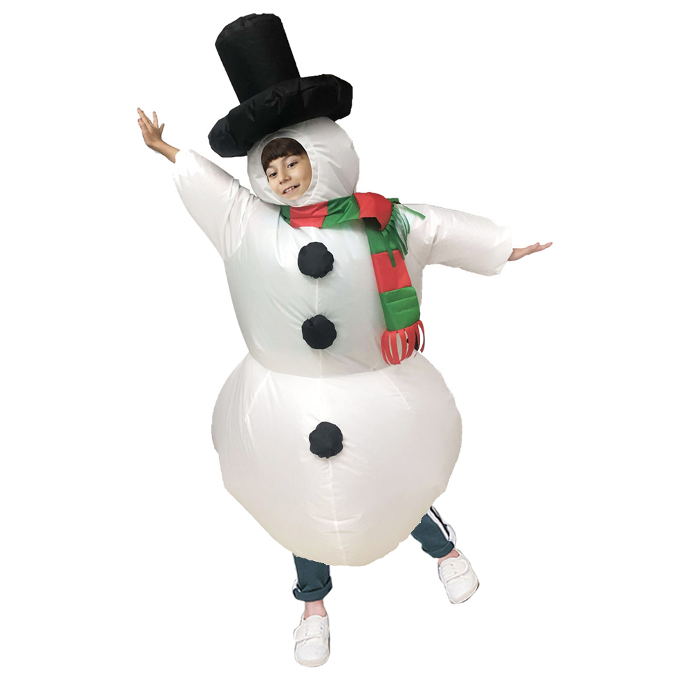 Christmas Inflatable Snowman Costume Suit for Adults Halloween Cosplay Party  Child