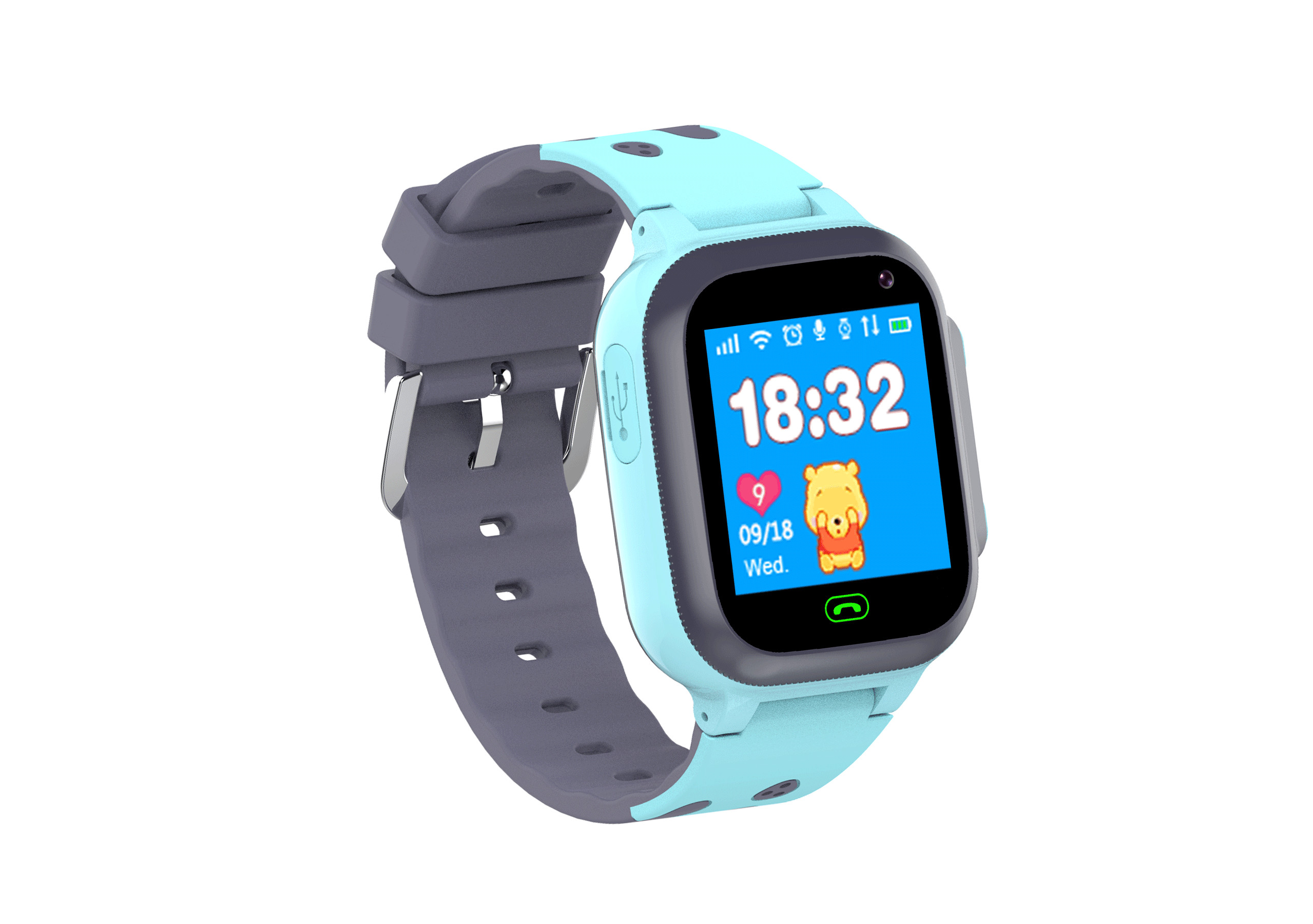 Smart Watch for Kids LBS Tracker SmartWatch SOS Call for Children Anti Lost Monitor Baby Wristwatch for Boy girls blue