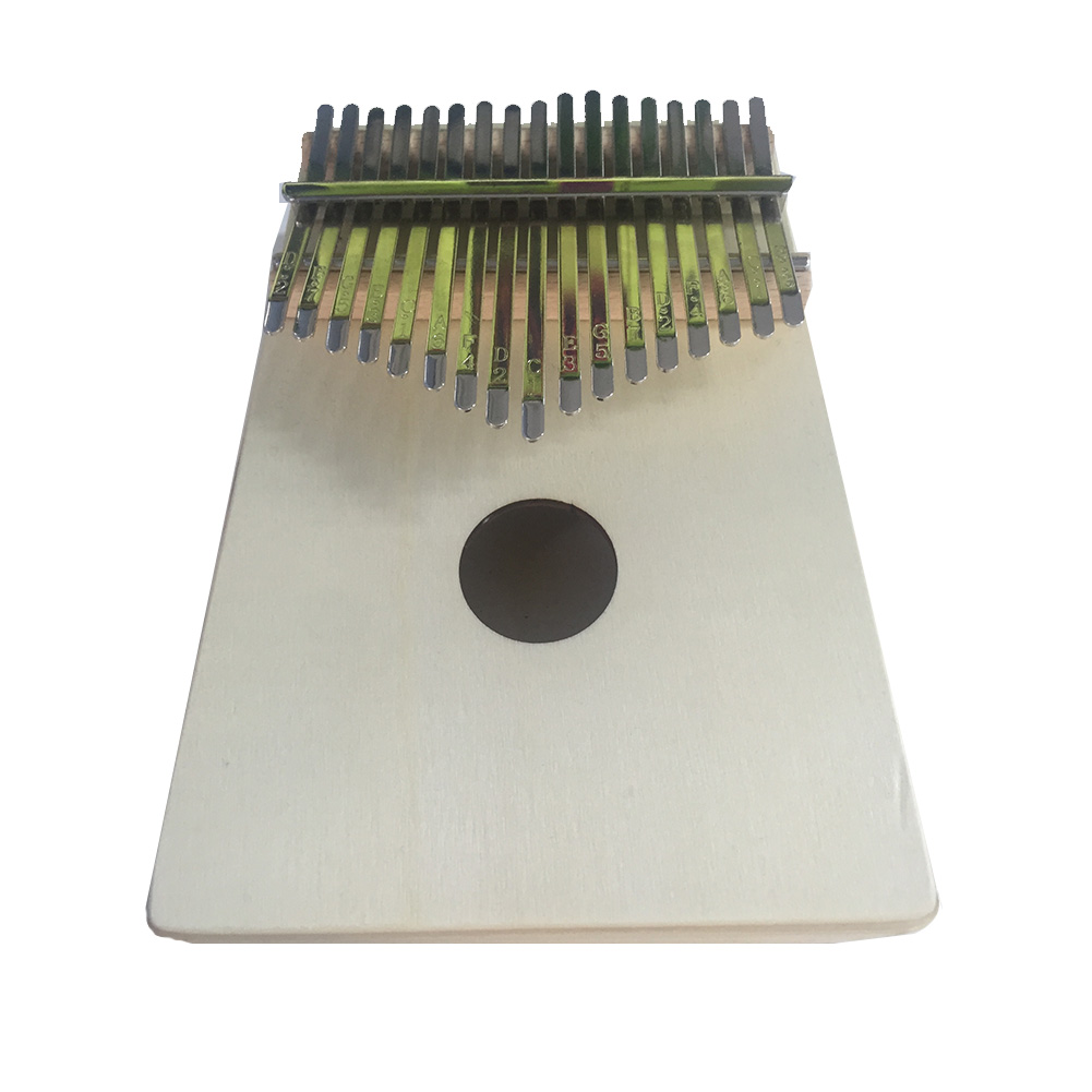 17 Keys Wood Kalimba Thumb Mbira Finger Piano for Beginner Musical Instrument Children Kids Toy  Wood color
