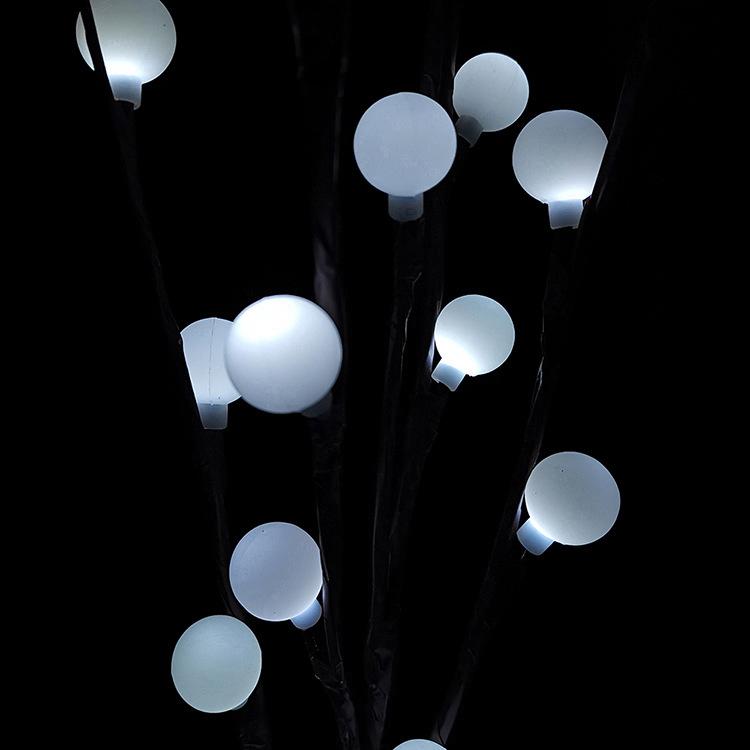 LED 3 in 1 Solar Waterproof Tree Branch Shape Ball Light Decor Lamp for Wedding Party Festival White light
