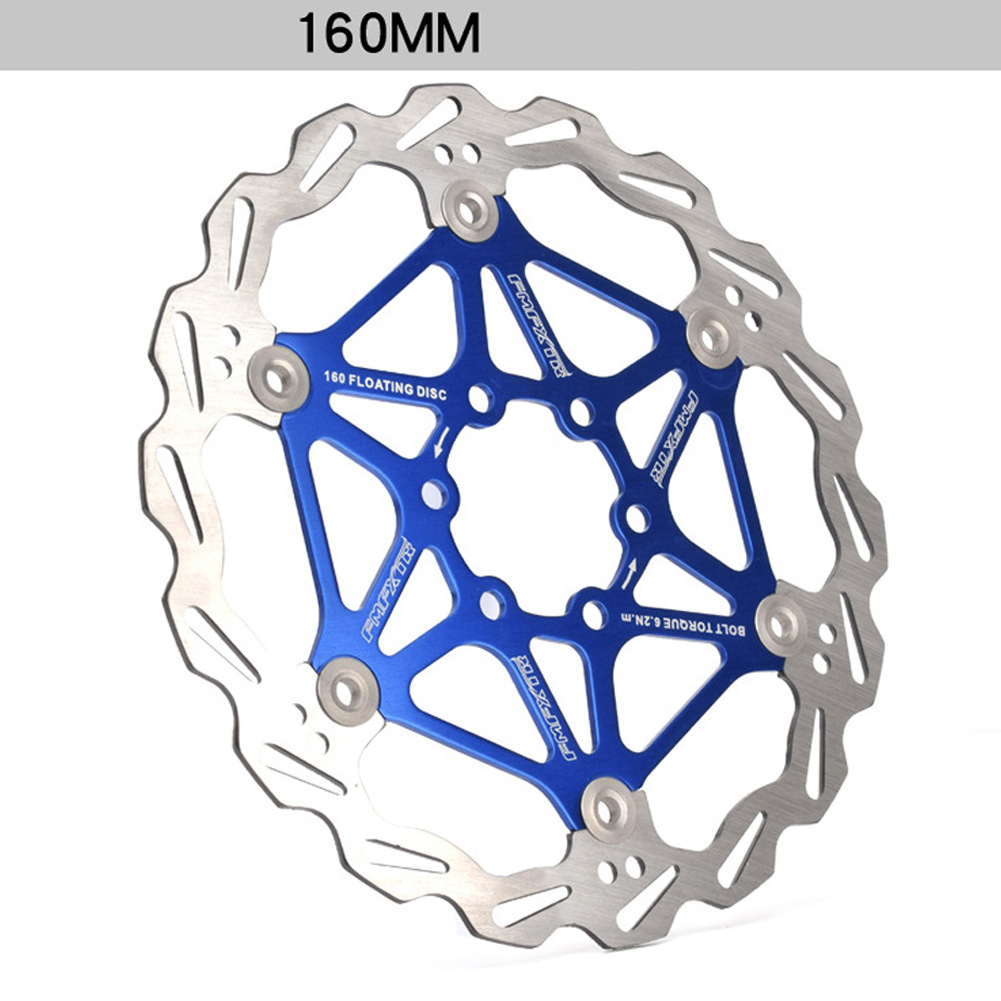 Mountain Bike Brake Rotor Strong Heat Dissipation Floating Rotor 160mm 180mm 203mm Mtb Disc Brake Pad 160mm blue one_One size