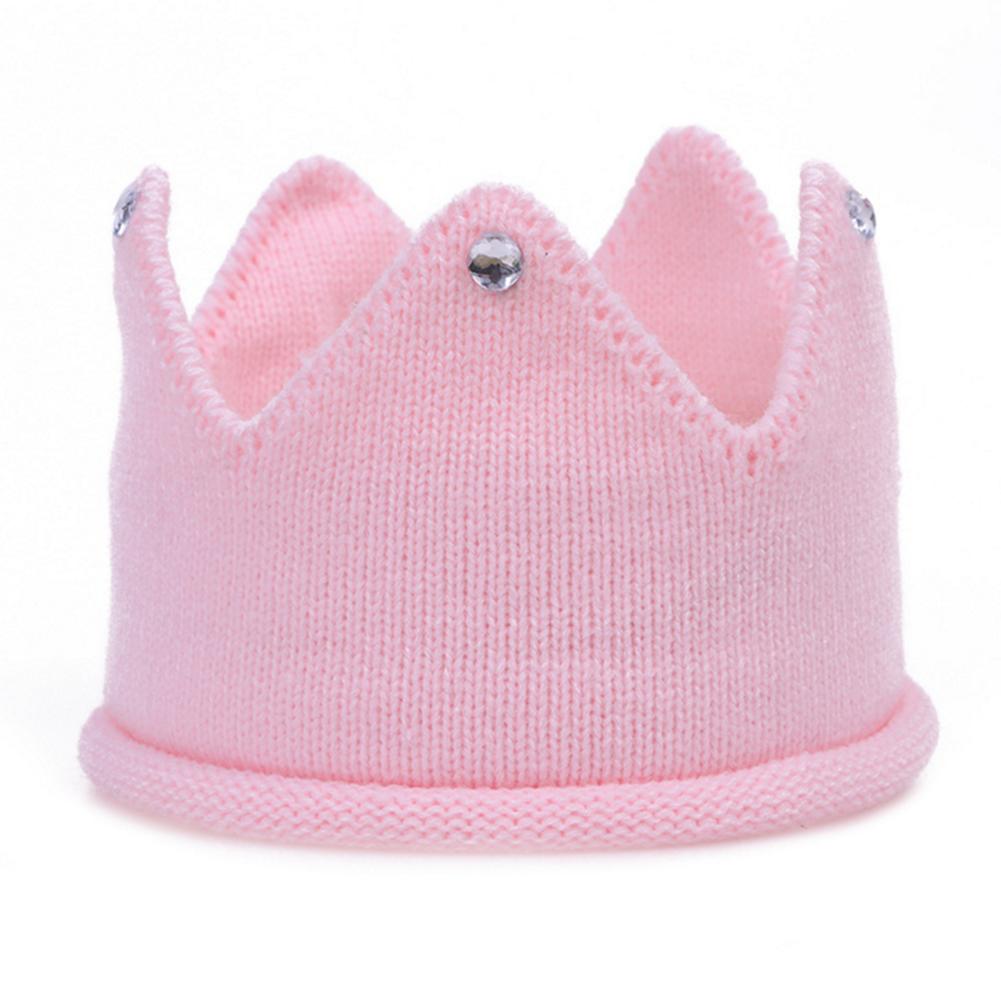 Cute Creative Baby Boy Girl Crown Hat Warm Soft Knit Crochet Head Cap Stylish Multicolor Christmas Gift