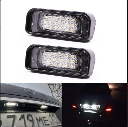 2PCS 18LED License Plate Light For Mercedes-Benz W220 S-class S280 S320 S500 License Plate Light White light