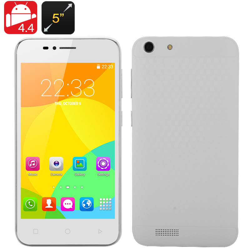 Dual SIM Android 4.4 Smartphone (White)