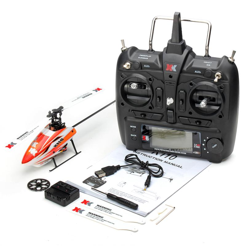 XK K110 Brushless RC Helicopter RTF / BNF for Kids Children Funny Toys Gift RC Drones Outdoor K110 with remote control