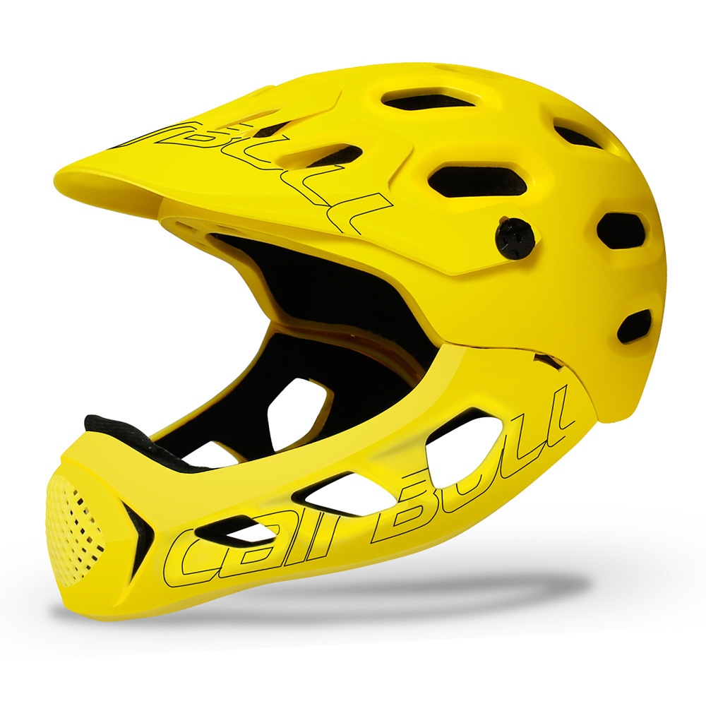 Cairbull ALLCROSS Mountain Cross-country Bicycle Full Face Helmet Extreme Sports Safety Helmet yellow_M/L (56-62CM)