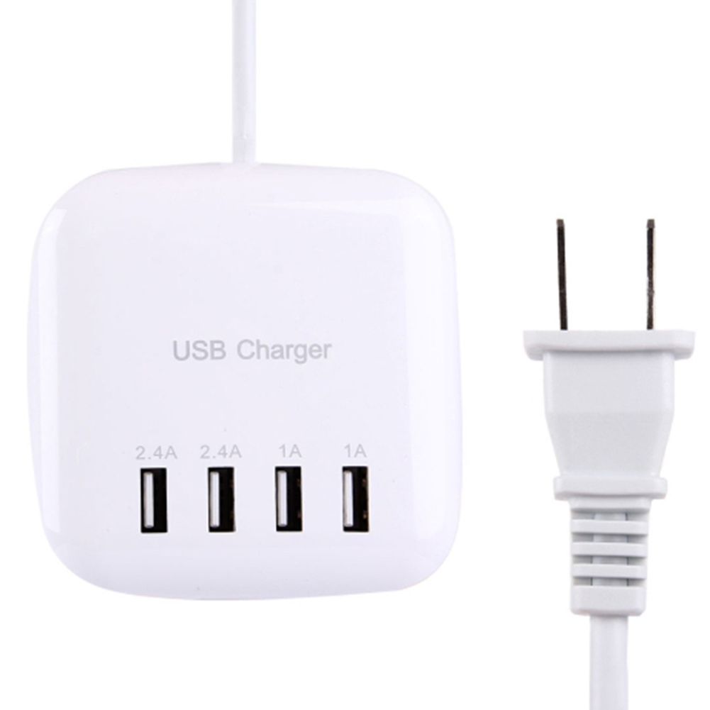 Portable 4 Ports USB Charger Station Fast Cell Phone Desktop Charging Dock