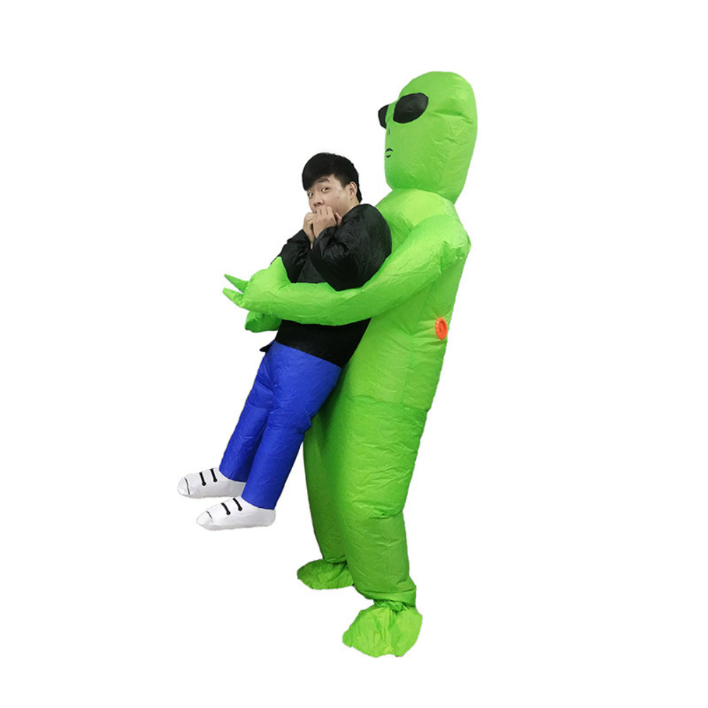 Inflatable Alien Costumes Shake Halloween Alien Ghosts Inflatable Clothes Show Props green_adult