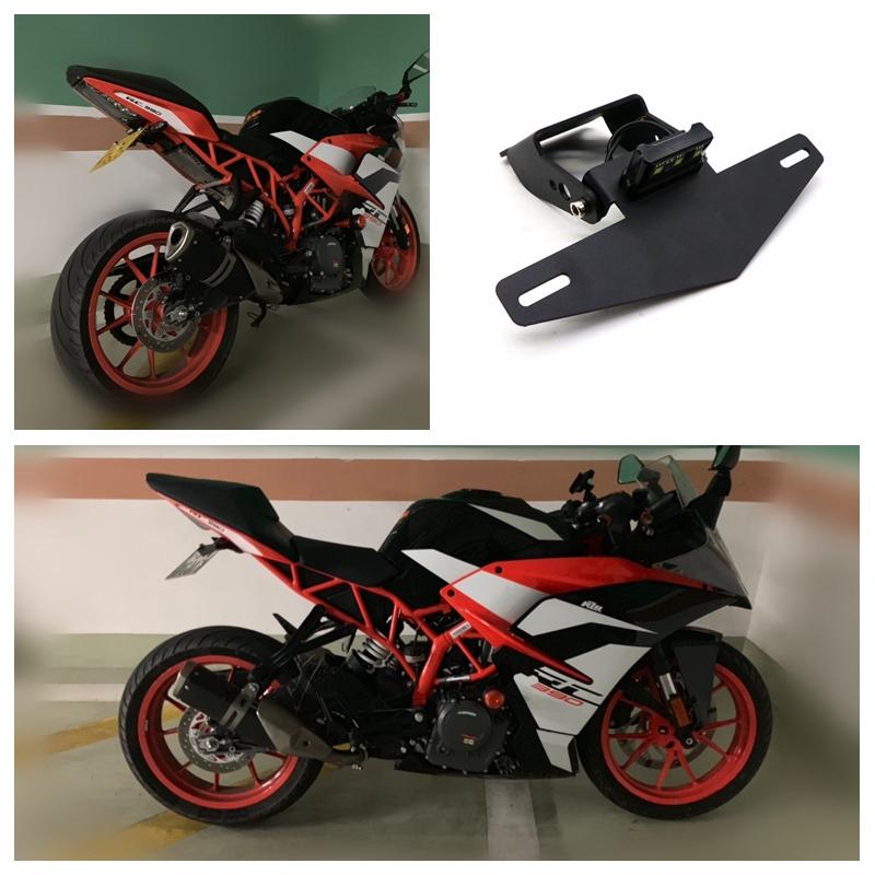 Motorcycle Modification Light Frame Short Style Plate Frame for KTM RC390 DUKE390 17-19-19 black