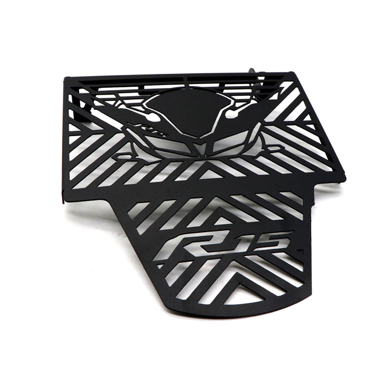 Motorcycle Radiator Grille Aluminium Alloy Water Tank Guard Protective Cover for YAMAHA R15 V3  black