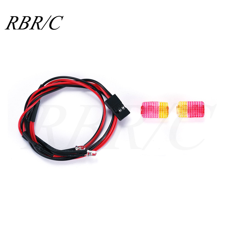 Wpl D12 Microcard Remote Control Minivan Decoration Accessories Diy Upgrade Model d12 red taillight cover + lamp