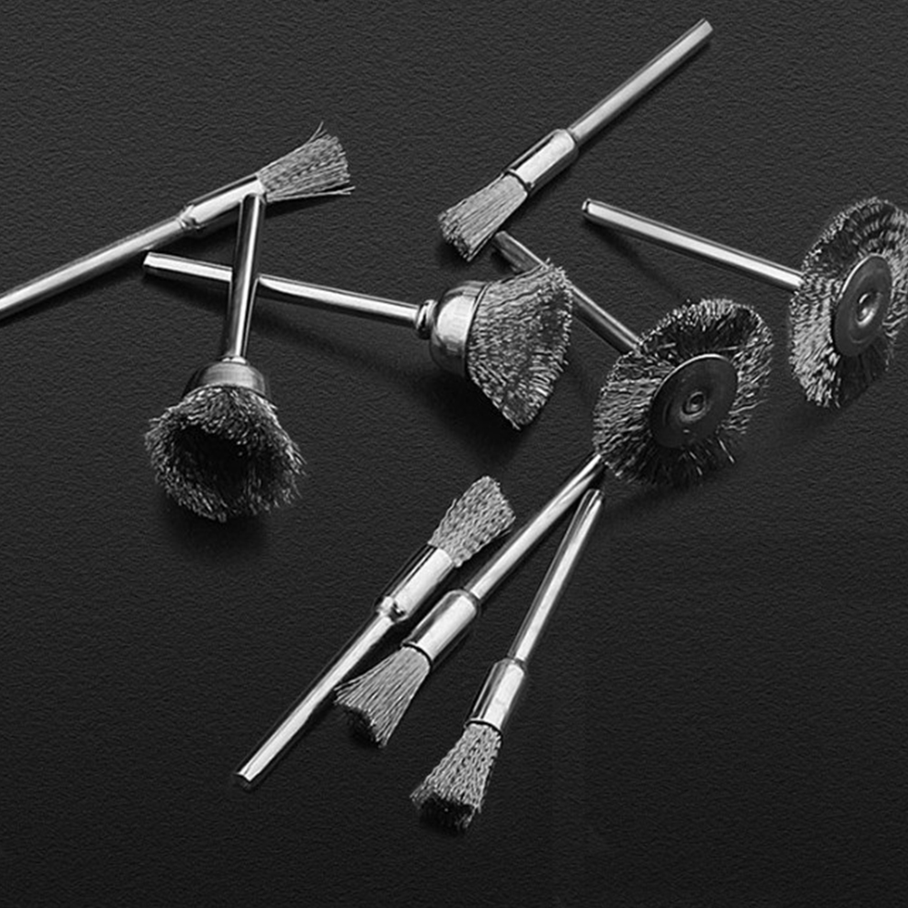 60pcs Brass Brush Steel Wire  Wheels  Brushes Drill Rotary Tools Polishing Rotary Tools as picture show