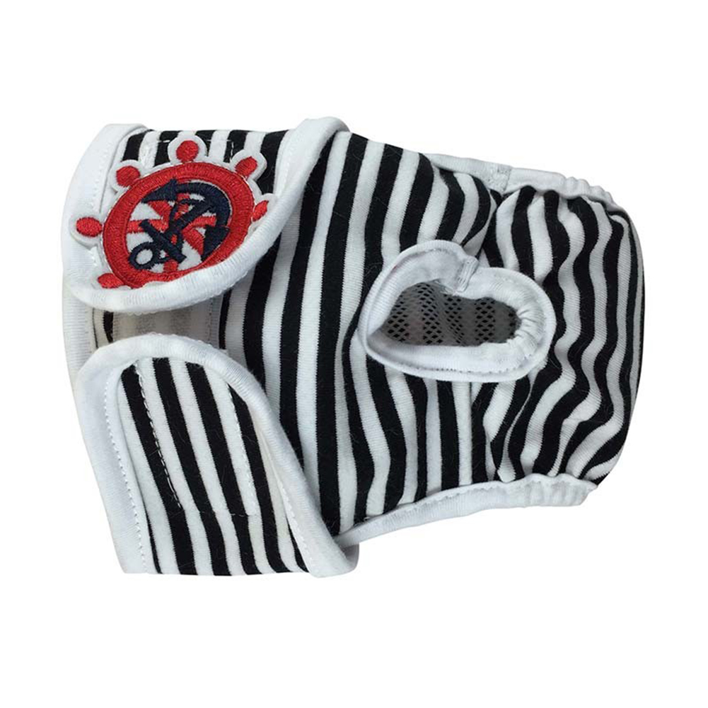 Cute Pet Dog Physiological Pants Sanitary Pants for Female Dog Underwear  Black and white strip_M