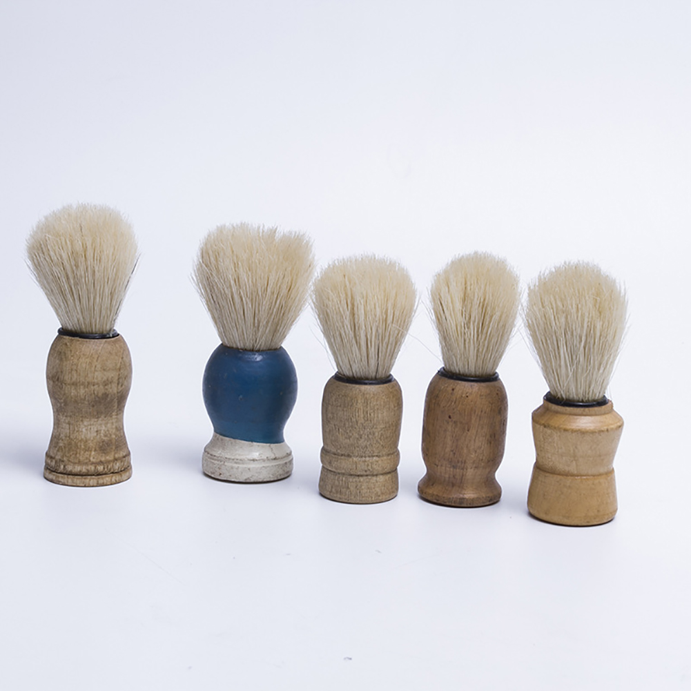 Men Shaving Beard Brush Salon Cleaning Appliance Shave Tool Brush With Wood Handle random