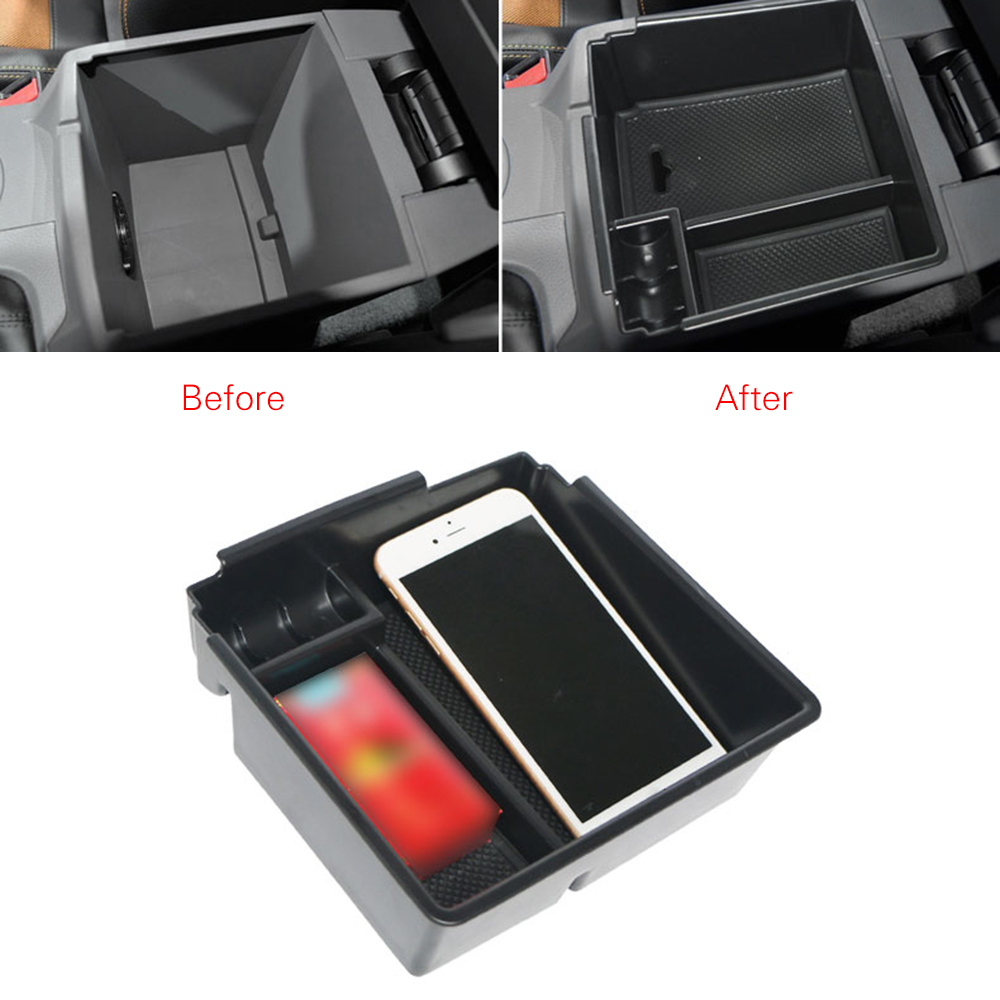 For Ford RANGER 2016 2017 2018 Central Armrest Storage Box Container Holder Tray Car Organizer