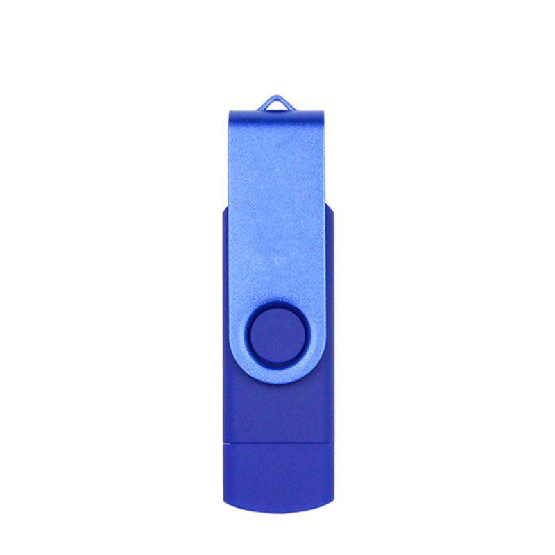 Double Swivel Cap High Speed Type C USB3.1 U Disk L16 USB Flash Drive blue_32G