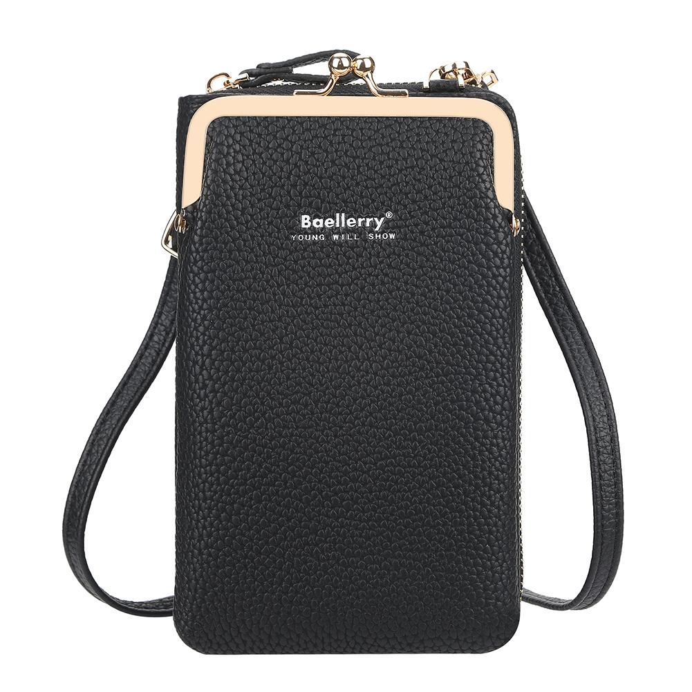 Women Satchel Crossbody Bag Mini PU Leather Shoulder Messenger Bag for Girls Phone Purse black