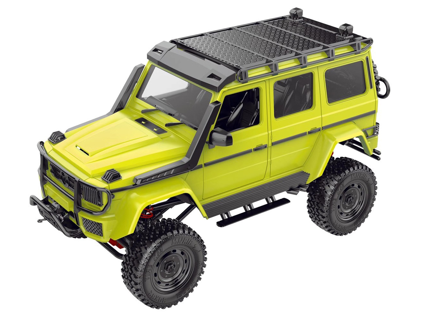 RC Car for Mn86ks 1:12 2.4G Four-wheel Drive  Climbing  Off-road  Vehicle Big  G Brabus Kit Toy Assembly  Version fluorescent green