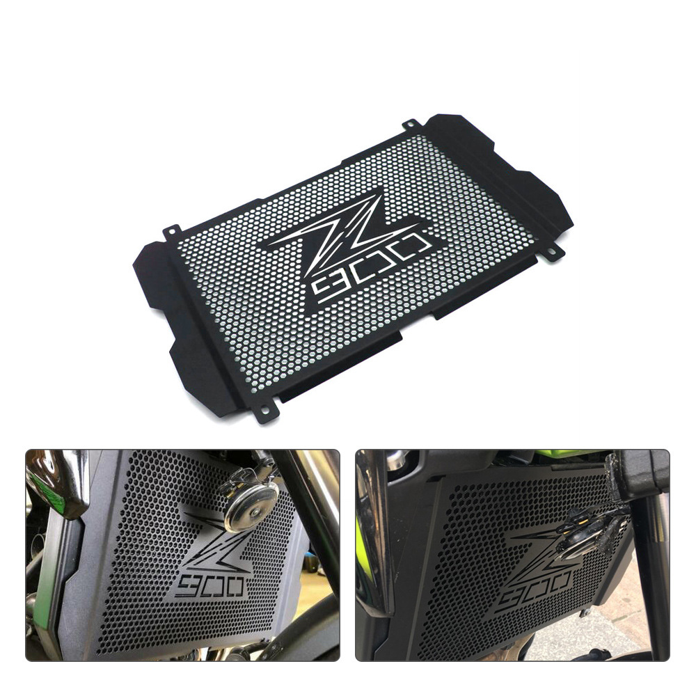 Motorcycle Accessories Radiator Grille Cover Guard for Kawasaki Z900 Z 900 2017 2018 2019 black