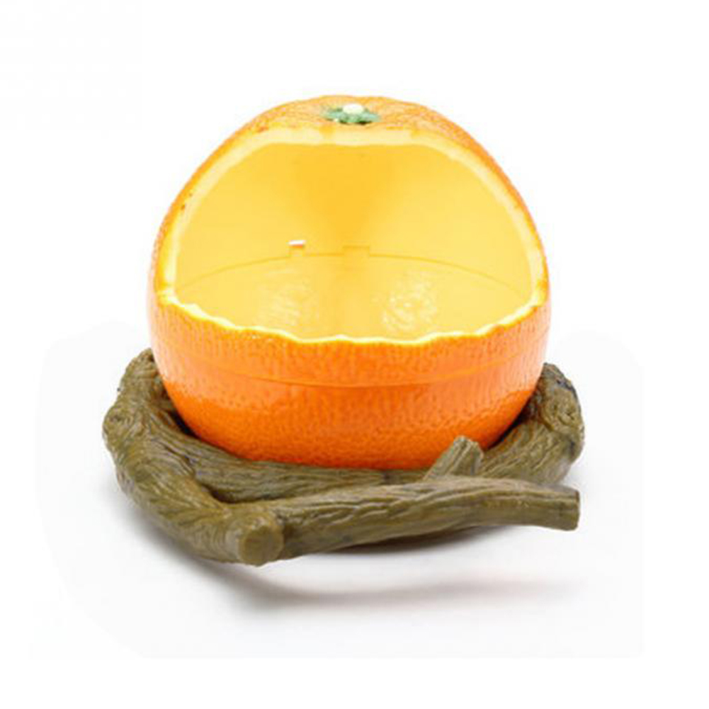 Unique Chic Orange/Pomegranate Shape Birds Feeder Parrot Birds Food Container Food Bowl Drinkers Orange