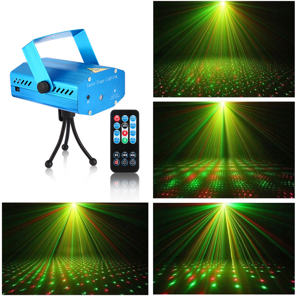 Litake Mini Stage Light LED Laser Projector Red Green Star Voice-activated/Auto/Flash FDA Certificated for Club Disco Bar DJ Party