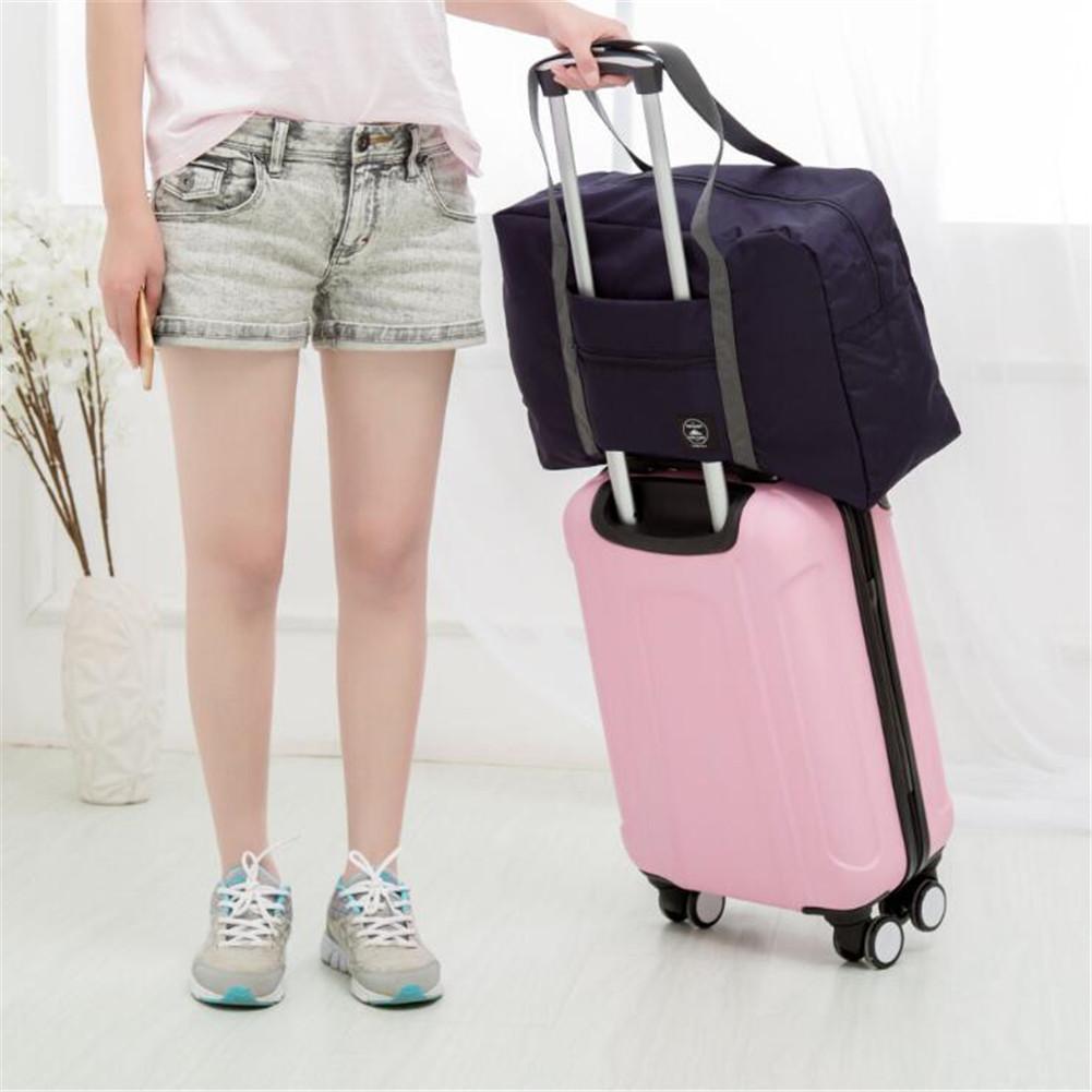 Waterproof Business Trip Folding Travel Bag Luggage Portable Aircraft Bag Navy