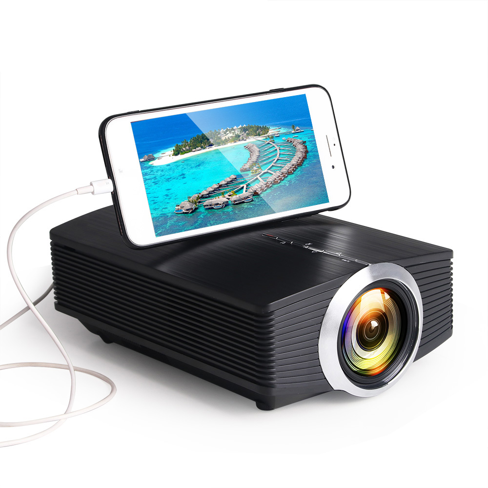 YG510 Gm80a Mini Projector 1800 Lumens LED LCD VGA HDMI AC3 Beamer Support 1080P YG500A 3D Portable Projector black_Mobile phone with the same screen version