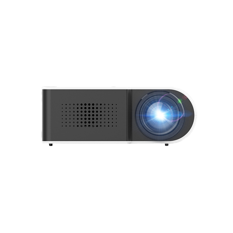 YG210 Mini Portable Projector Video Digital HD 1080P LCD 18W Energy Saving Projectors for Home Cinema Theater white_European regulations