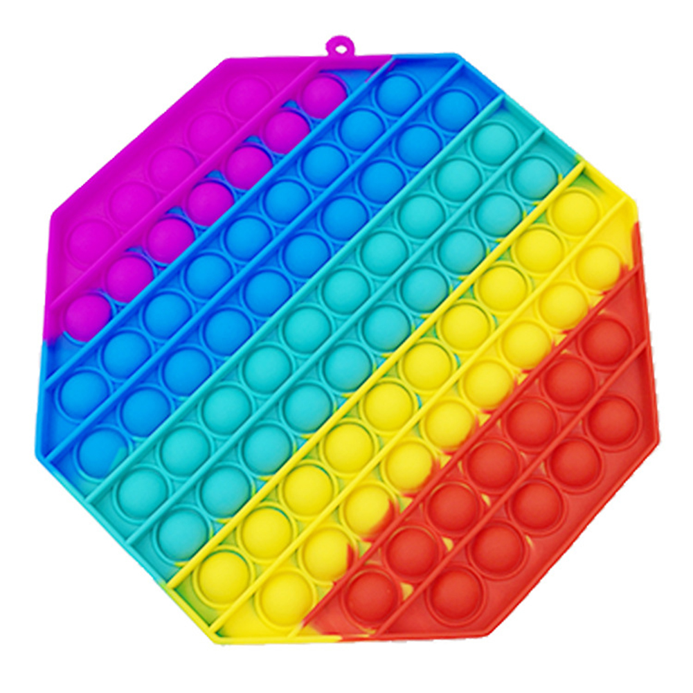 Finger  Push  Pop  Toys Colored Grasping Pressing Thinking Exercise Board Stress Reliever Educational Toy Octagon