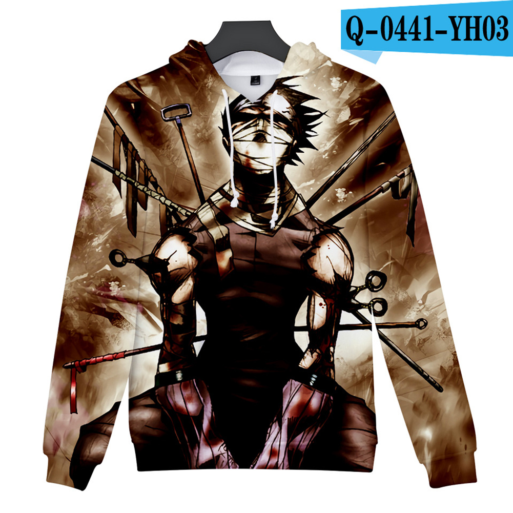 Men Women 3D Naruto Series Digital Printing Loose Hooded Sweatshirt Q-0441-YH03 A_L