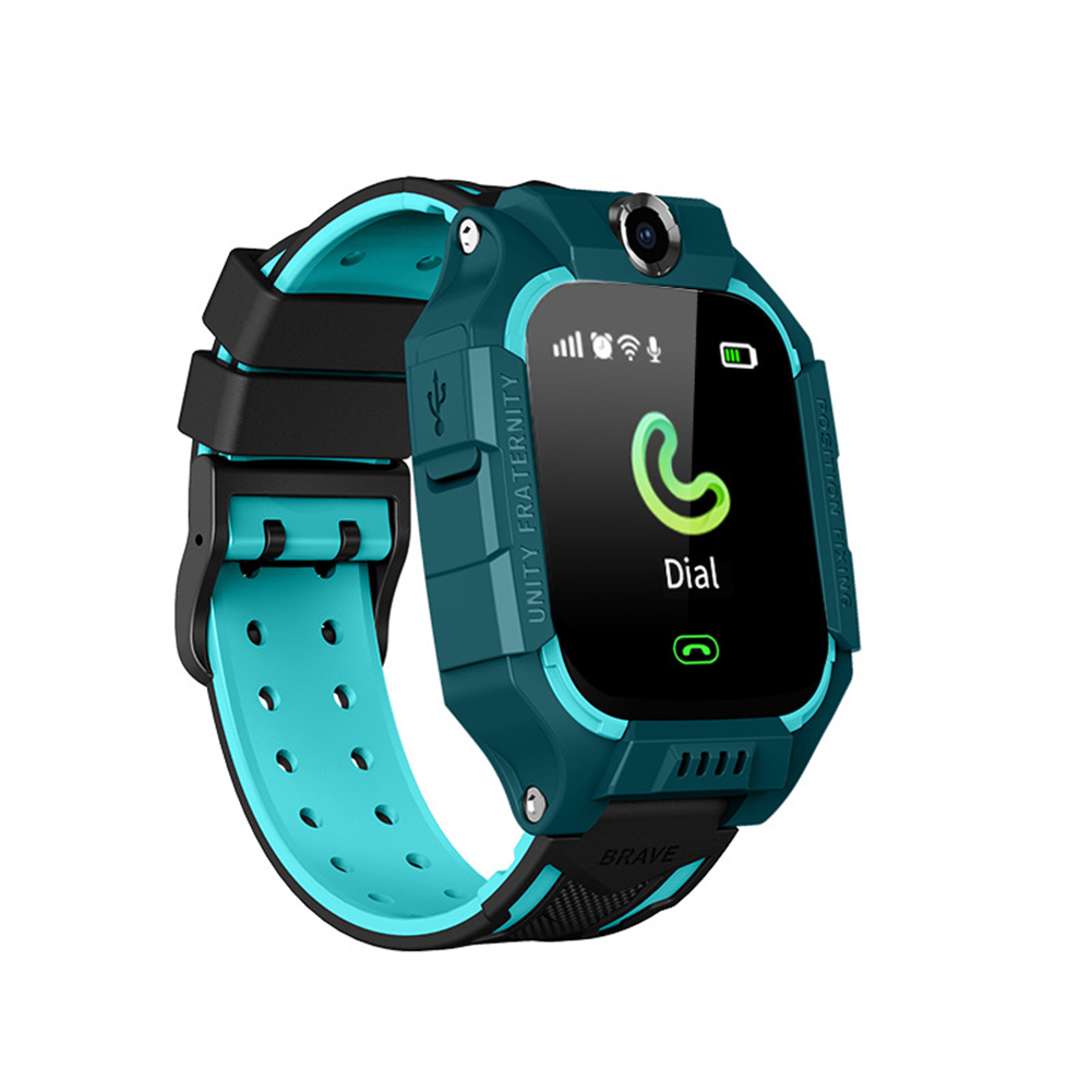 Q19 Smart Watch For Kids Children Smartwatches Positioning Touch Screen Camera English Version Deep Swimming Grade Waterproof green