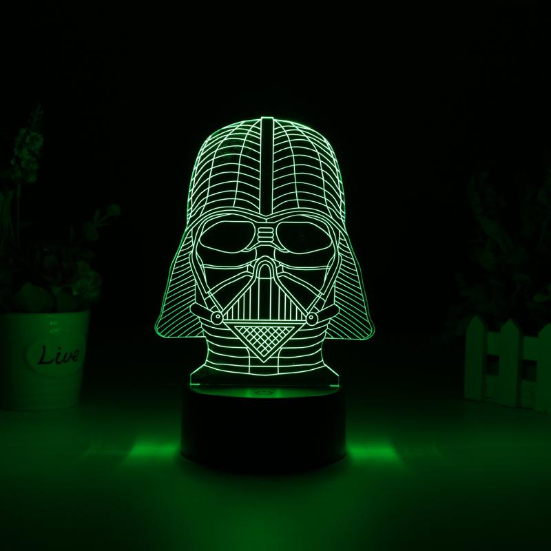 Darth Vader 3D LED Color Light