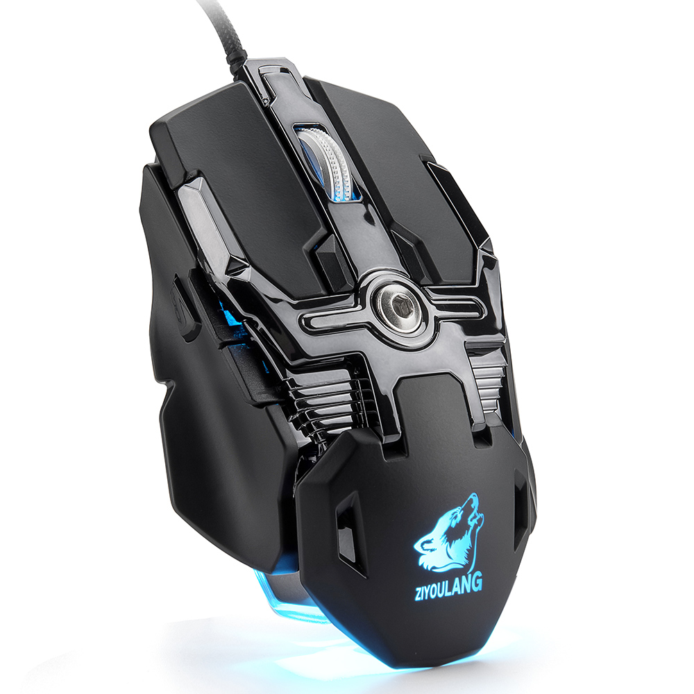 Professional Wired Gaming Mouse 7 Button 5500 DPI LED Optical USB Computer Mouse Gamer Mouse Silent Mause for PC  black