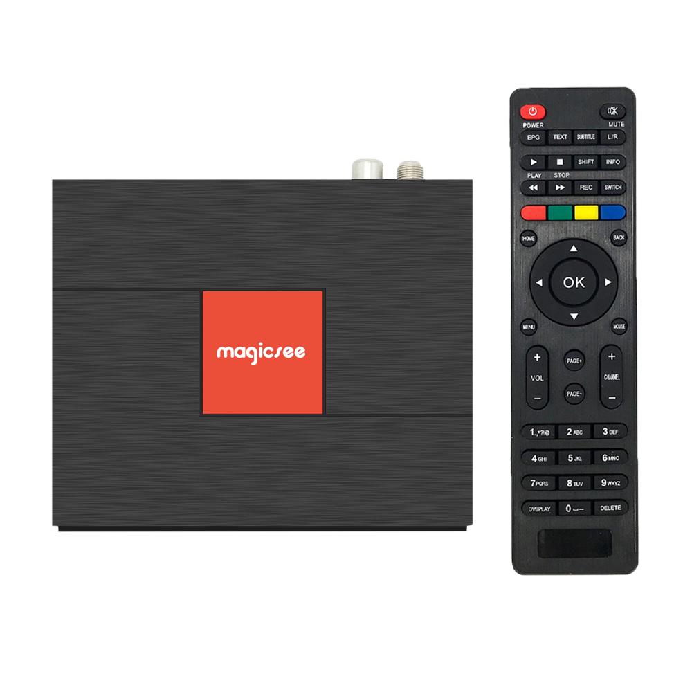 C400 Plus Amlogic S912 Octa Core TV Box 3+32GB Android 4K Smart TV Box DVB-S2 DVB-T2 Cable Dual WiFi Smart Media Player black_3 + 32GB U.S. regulations