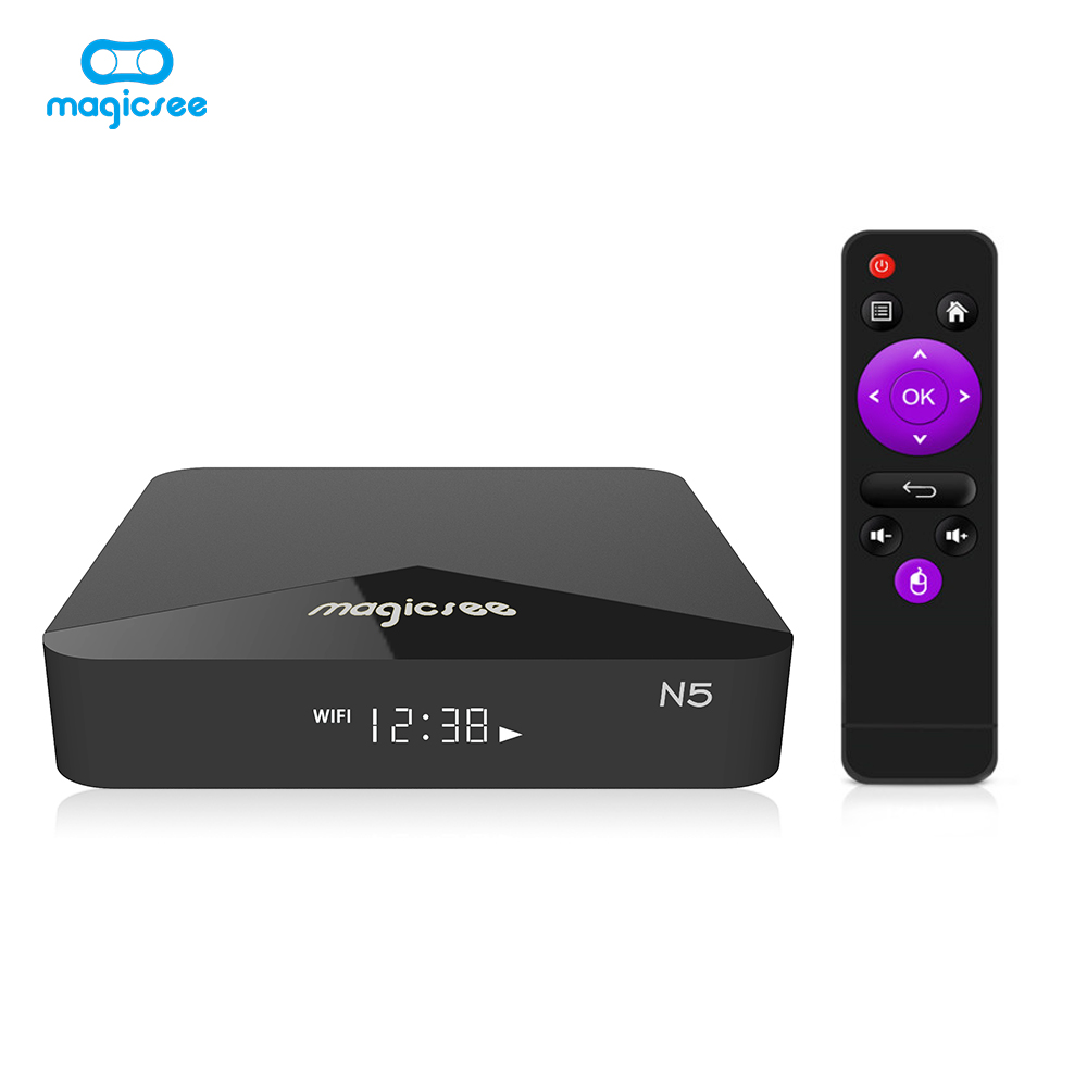 TV BOX N5 Android 9.0 TV BOX Amlogic S905X Quad-core 4K Resolution 2GB RAM 16GB ROM 2.4G 5G WiFi Set Top Box black_2 + 16GB single WIFI US regulations