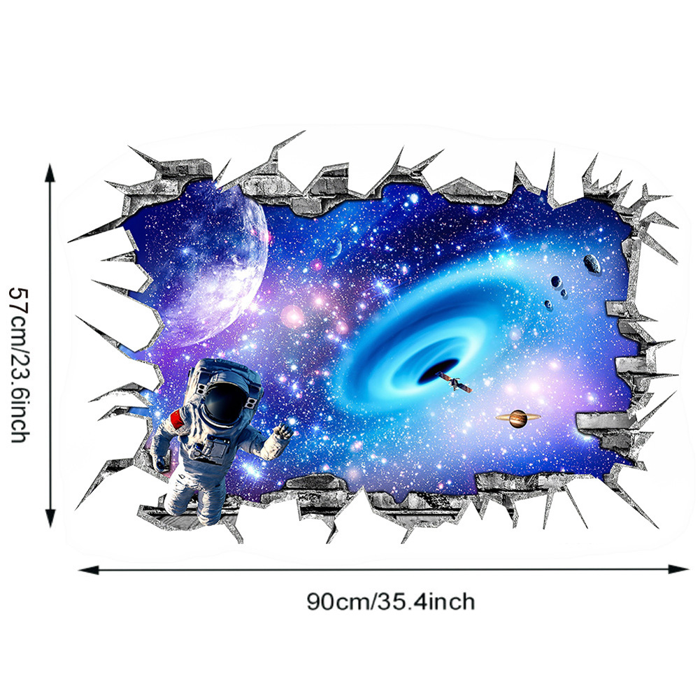 3D Wall Sticker Starry Sky Adhesive Waterproof PVC Wallpaper Decal Children's Room Decoration L-57 * 90CM