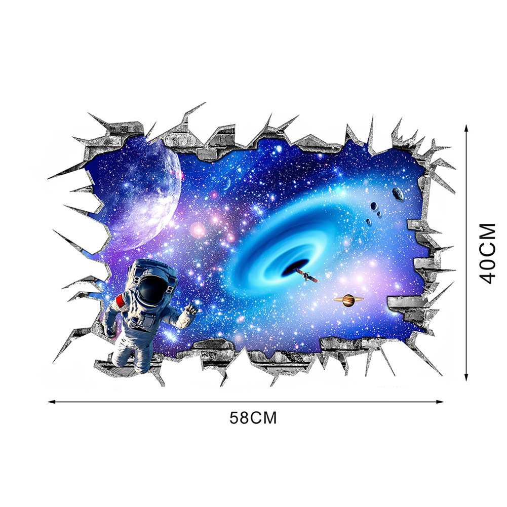 3D Wall Sticker Starry Sky Adhesive Waterproof PVC Wallpaper Decal Children's Room Decoration S-40 * 58CM
