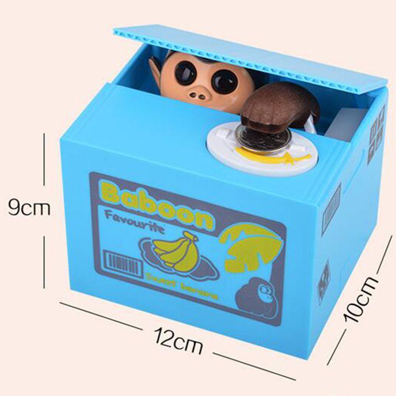 [EU Direct] Monkey stealing money box blue