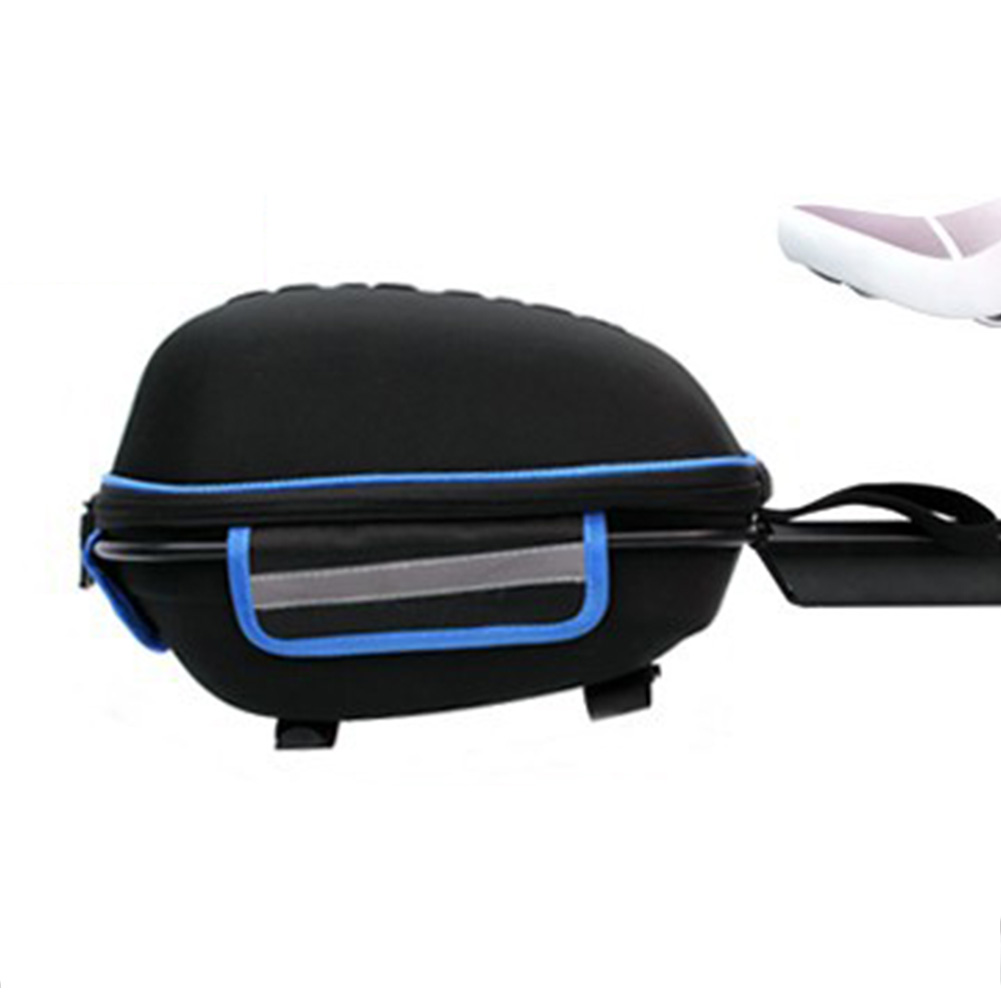 Bicycle Hard Cover Detachable Shell Package Tail Box with Mountain Bike Rack Bag Black blue_28.5*19*18.5cm