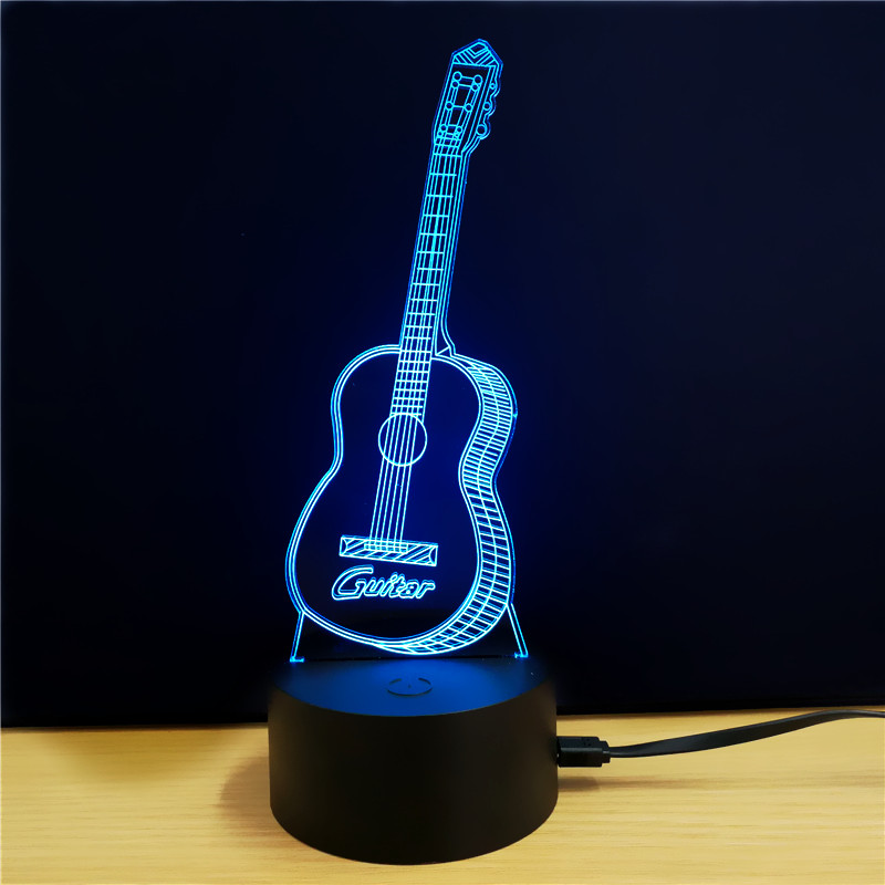 Guitar 3D LED Color Light