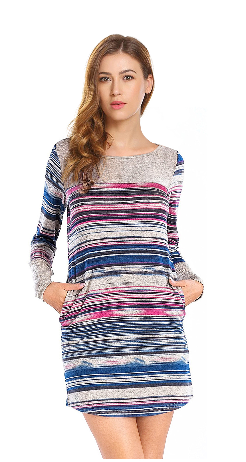 Womens Long Sleeve T Shirt Dress