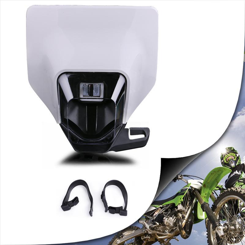 Universal Motorcycle Headlight Headlamp Head Light Lamp Supermoto Fairing White shell
