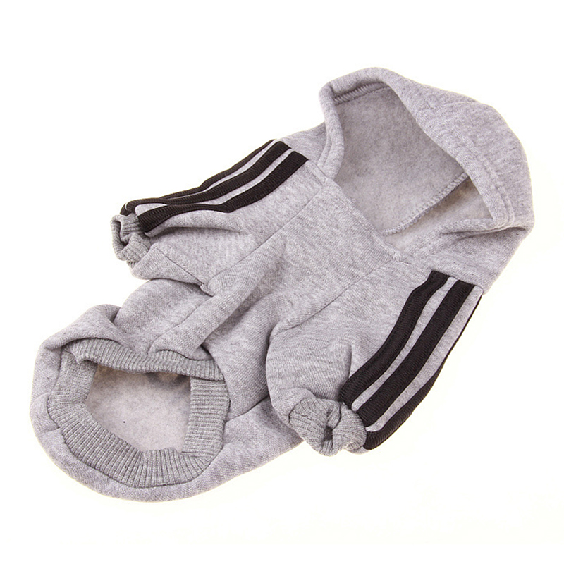 [US Direct] Puppy Pet Dog Clothes Cotton Hoodie Clothes Warm Sweater Coat with Adidog Letters Printed gray_7XL