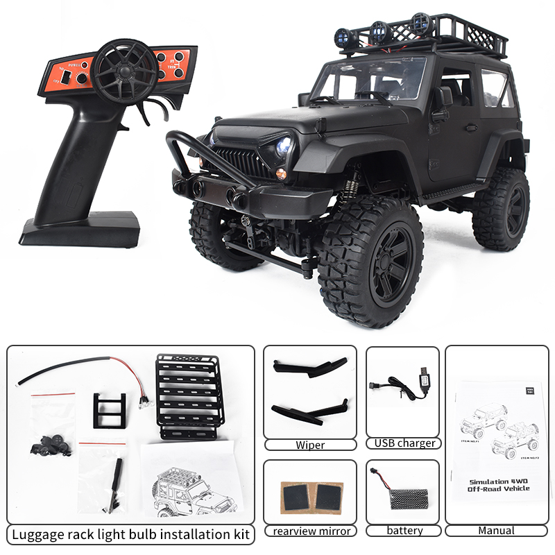 JY66 1:14 90 Minute Endurance Simulation 4wd Full Scale 2.4g RC Off Road Vehicle Toy Model Car 1 battery