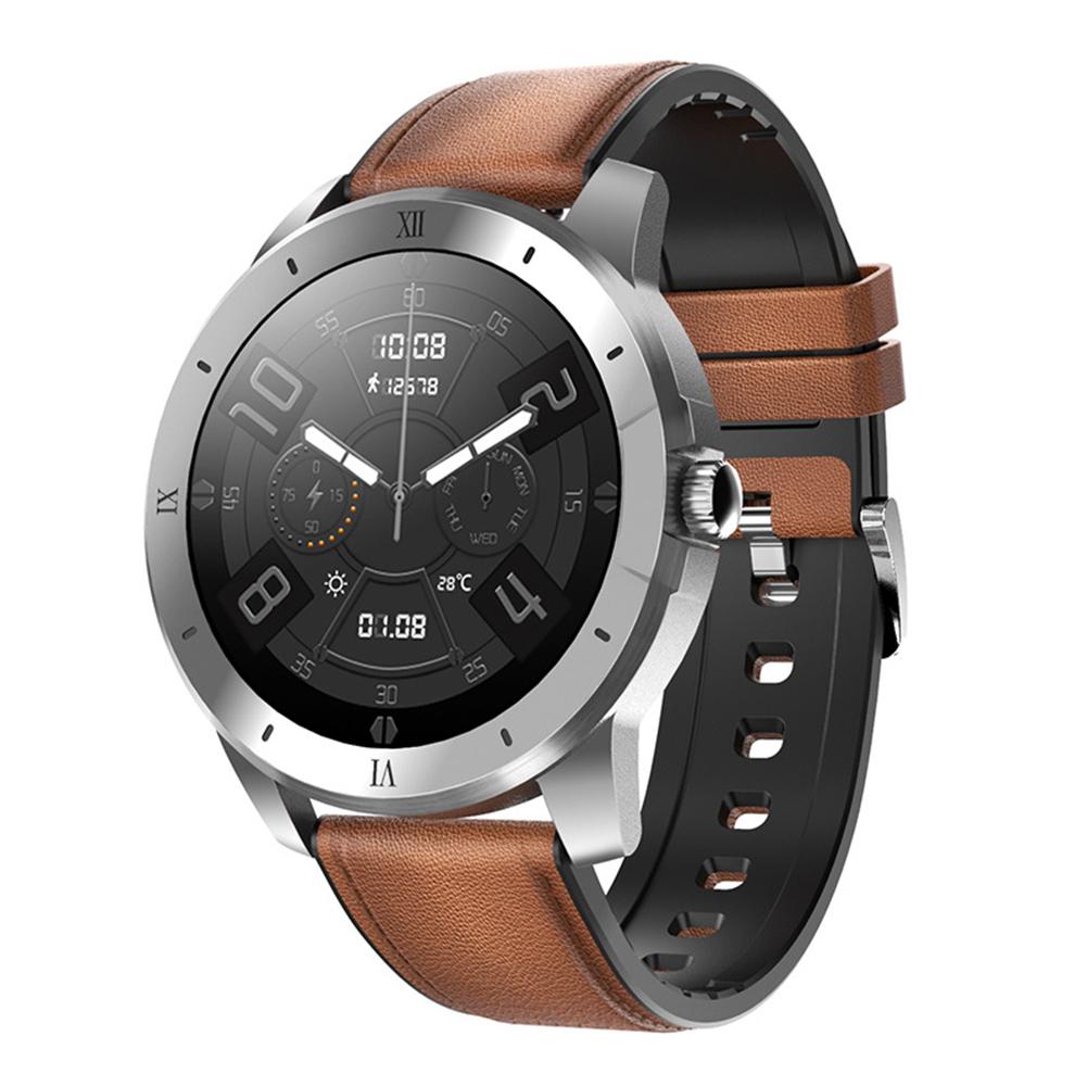 Mx12 Smart Watch Bluetooth Call Music Player Sports Bracelet Keep Health Smart Watch Black dial black leather belt